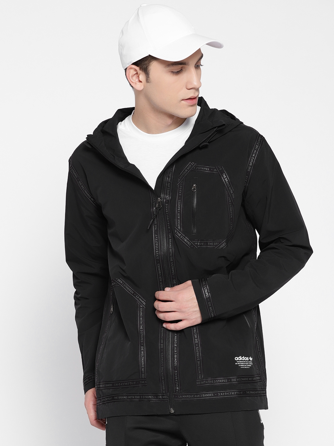 huge discount c3a12 b58fd Buy ADIDAS Originals Men Black NMD Field Jacket - Jackets for Men 2394360    Myntra