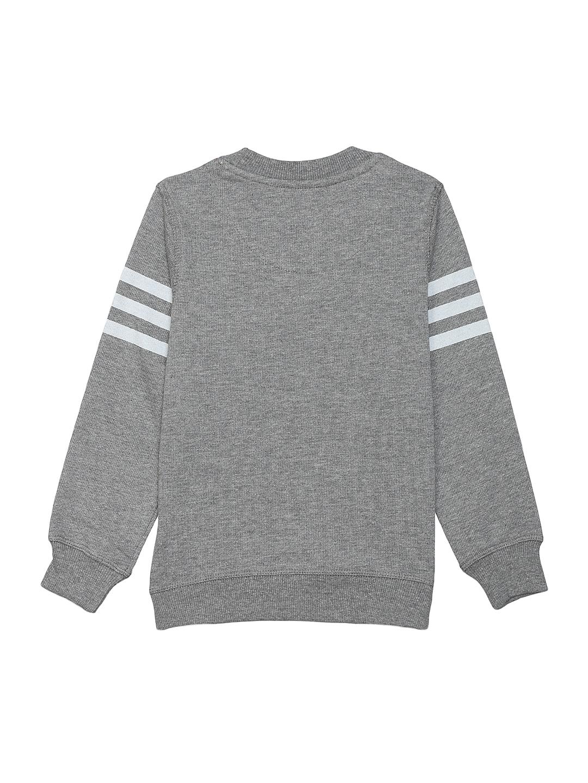 466b34332 Buy Avengers By Kidsville Boys Grey Melange Printed Sweatshirt ...