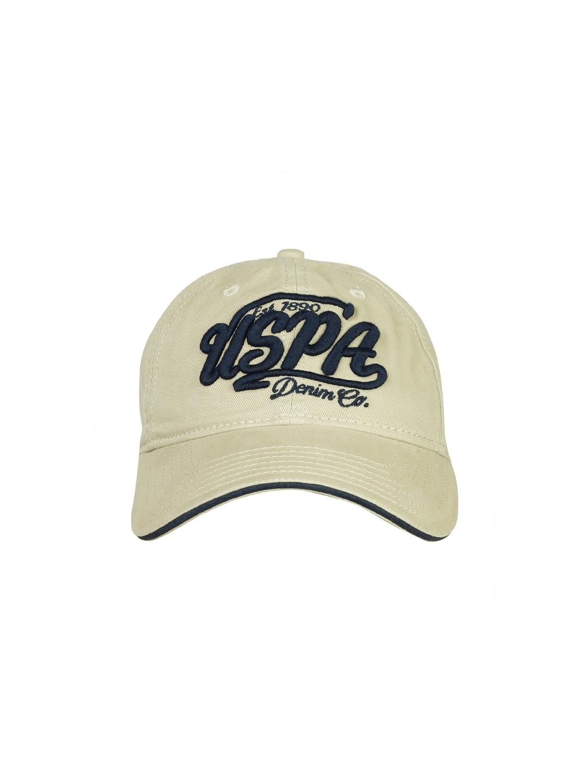 efed7c3d42b Buy U.S. Polo Assn. Men Khaki Embroidered Baseball Cap - Caps for ...