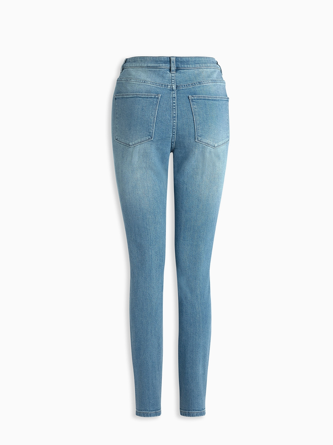 2cf382759b2 Buy Next Women Blue Skinny Fit High Rise Clean Look Stretchable ...