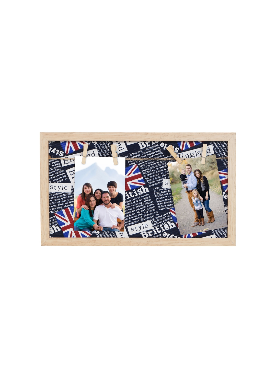 Buy Story@home Navy Blue 2 In 1 Wooden Collage Photo Frame - Photo ...