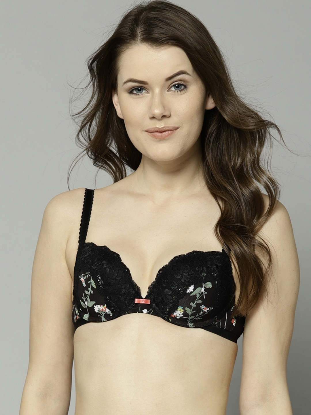 39b49ee3fa Marks   Spencer Black Lace Underwired Lightly Padded Balconette Bra 8798