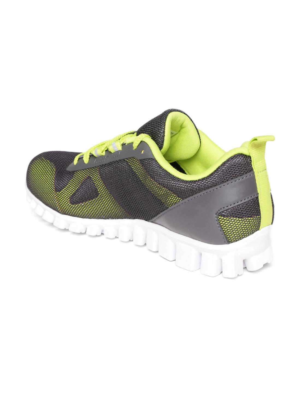 1559218b33a Buy Reebok Men Grey   Fluorescent Green Super Lite 2.0 Running Shoes ...
