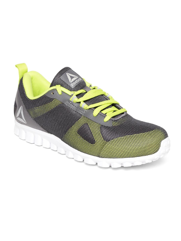 9d0f48ae743f96 Buy Reebok Men Grey   Fluorescent Green Super Lite 2.0 Running Shoes ...