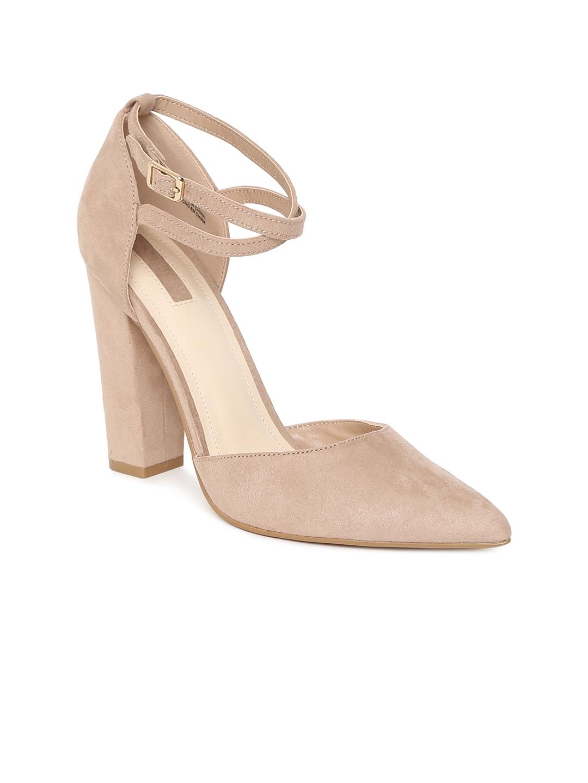 9ec41637c22 Buy FOREVER 21 Women Beige Solid Block Heels - Heels for Women ...