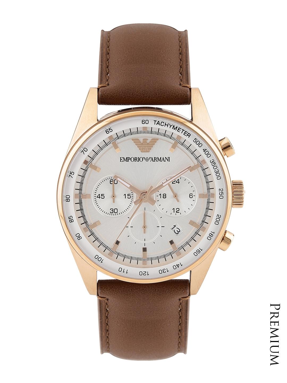 24cf7d98d Buy Emporio Armani Men Silver Toned Chronograph Dial Watch AR5995 ...