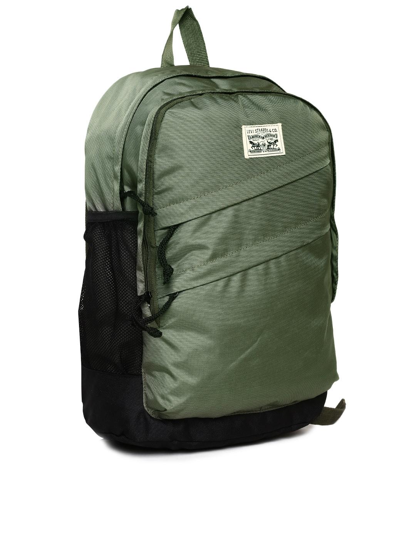 2a281b203 11521183718098 Levis Men Olive Green Colourblocked Laptop Backpack  9401521183717840 2 - Levis Laptop Bags