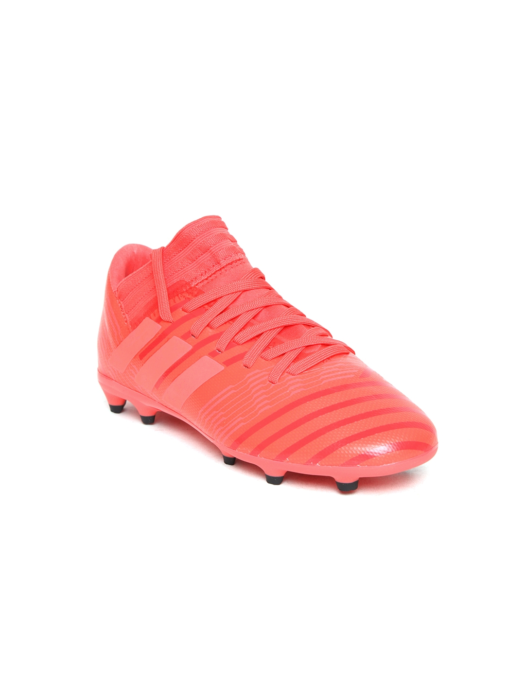 34cfc4bfb34e ADIDAS Boys Coral Orange NEMEZIZ 17.3 FG Patterned Football Shoes. Best  Price: ...