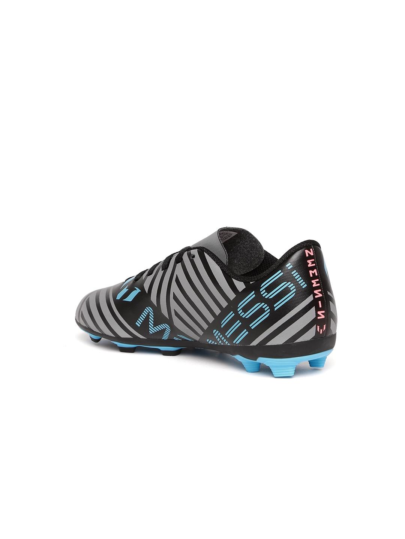 ADIDAS Boys Grey   Black Nemeziz Messi 17.4 FXG J Striped Football Shoes 8c7350362e4e1