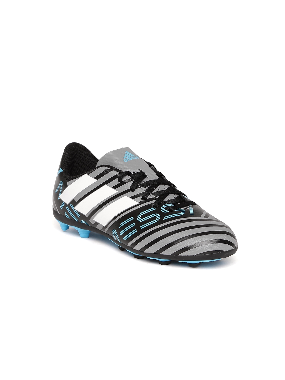 ADIDAS Boys Grey   Black Nemeziz Messi 17.4 FXG J Striped Football Shoes