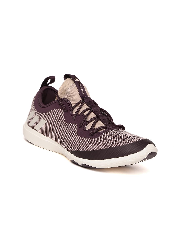 282ed559f90c29 Buy ADIDAS Women Peach Coloured   Purple Crazymove Training Shoes ...