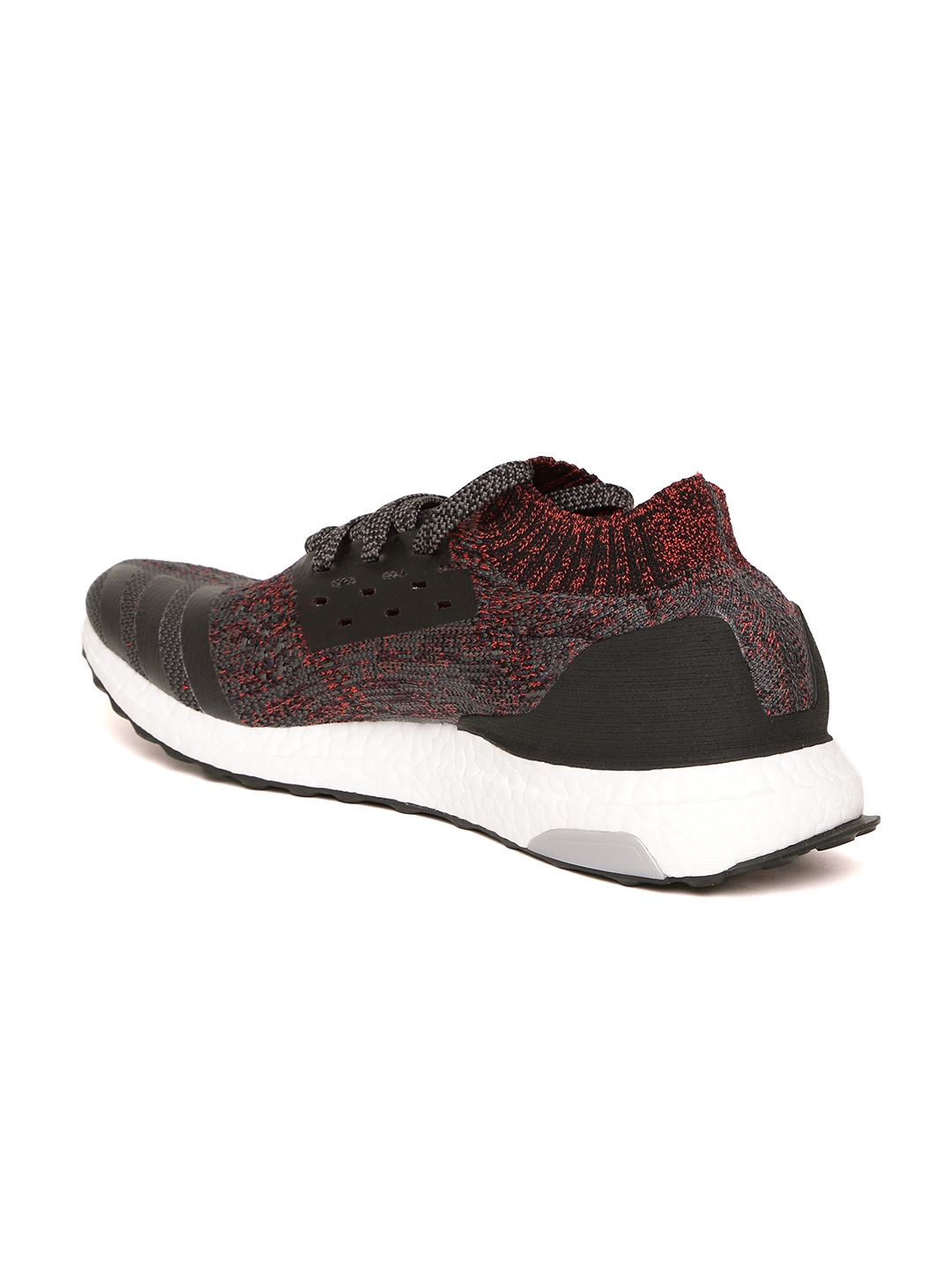 88e148d78ecf Buy ADIDAS Men Charcoal Grey   Red Ultraboost Uncaged Running Shoes ...