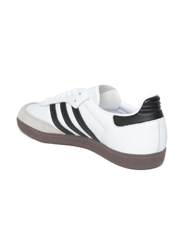 free shipping 4d6ea 337ef ADIDAS Originals Men White Samba OG Sneakers