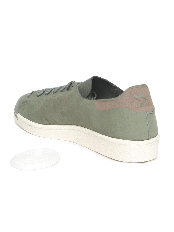 premium selection a41f0 53a9b ADIDAS Originals Men Olive Green Superstar 80S DECON Sneakers