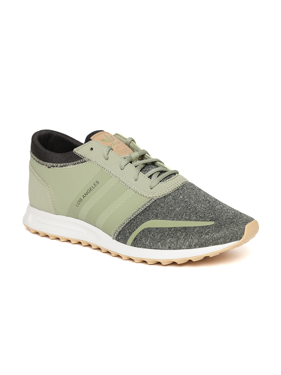 best service 92ee3 d5907 ADIDAS Originals Men Olive Green Los Angeles Sneakers