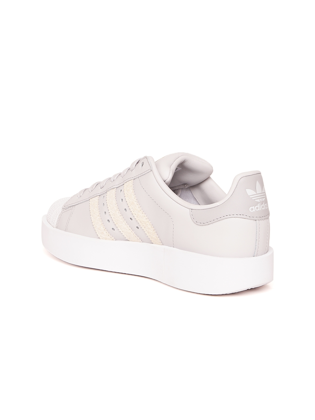 d5f5ba30a6a7 Buy ADIDAS Originals Women Grey SUPERSTAR BOLD Leather Sneakers ...