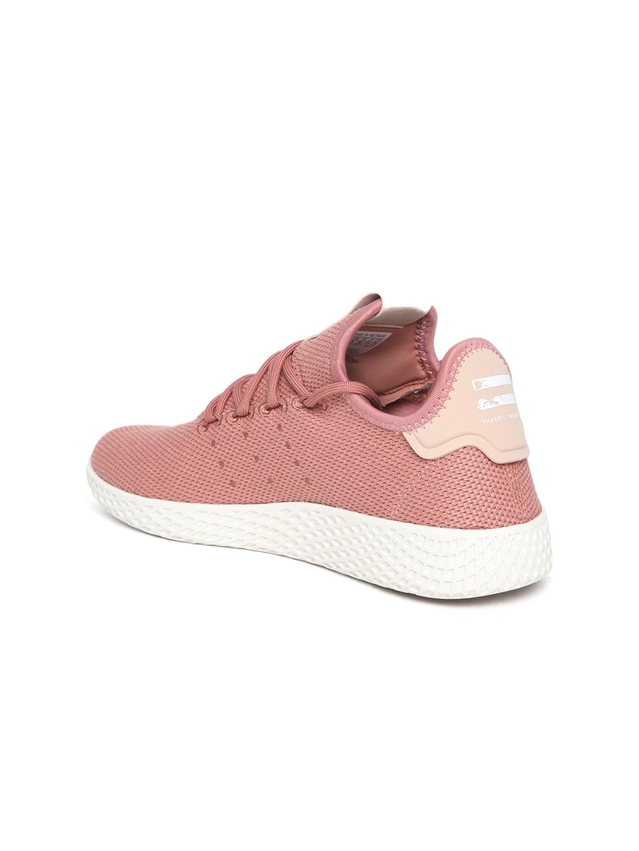 99f7aa4eb9e72 ADIDAS Originals Women Dusty Pink Pharrell Williams Tennis HU Woven Design  Sneakers