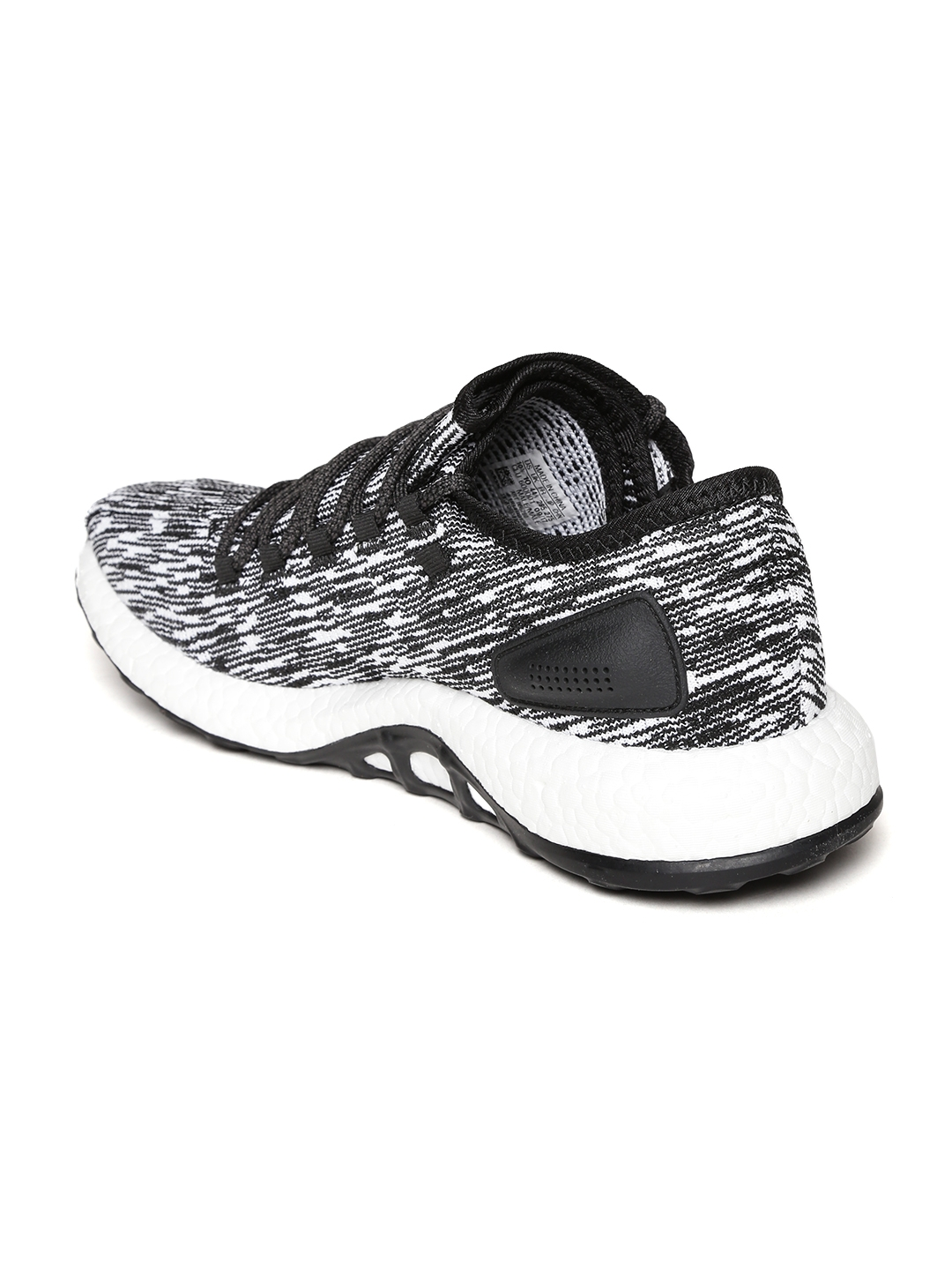 e0ea7391c41cf Buy ADIDAS Men Black   White Pureboost Running Shoes - Sports Shoes ...