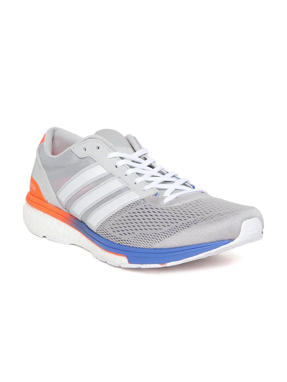 5d20562df7e Buy Adidas Men Grey ADIZERO Boston Running Shoes - Sports Shoes for ...