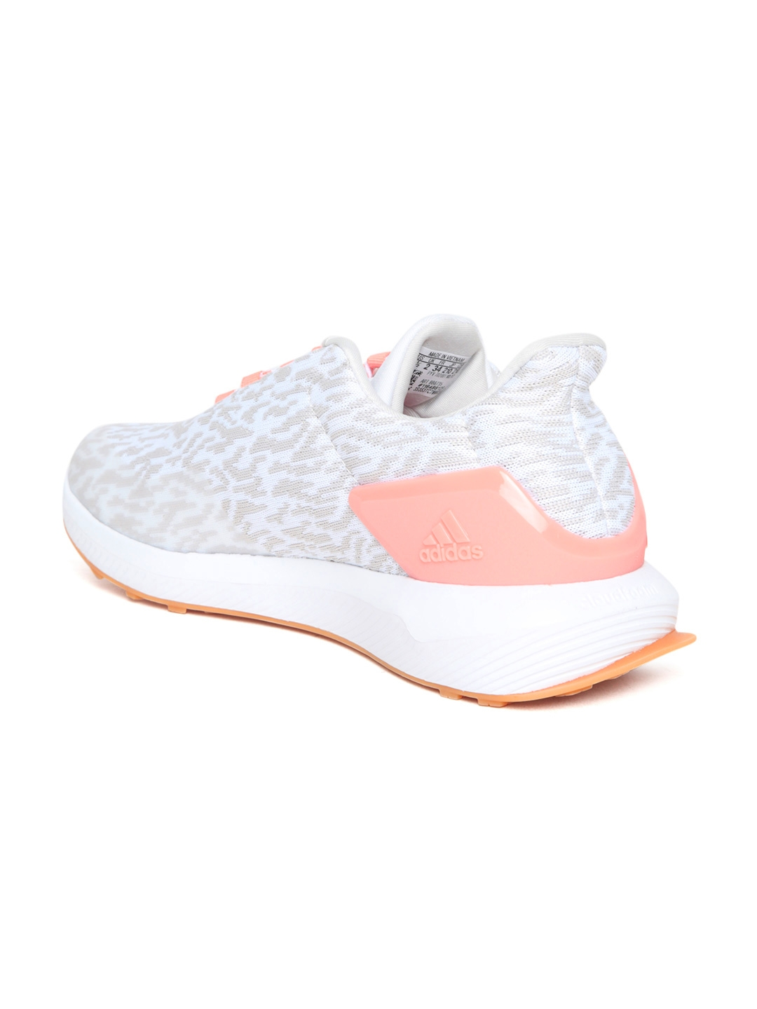 c157cabc37a1e ADIDAS Kids Off-White   Beige RapidArun Uncaged Patterned Running Shoes