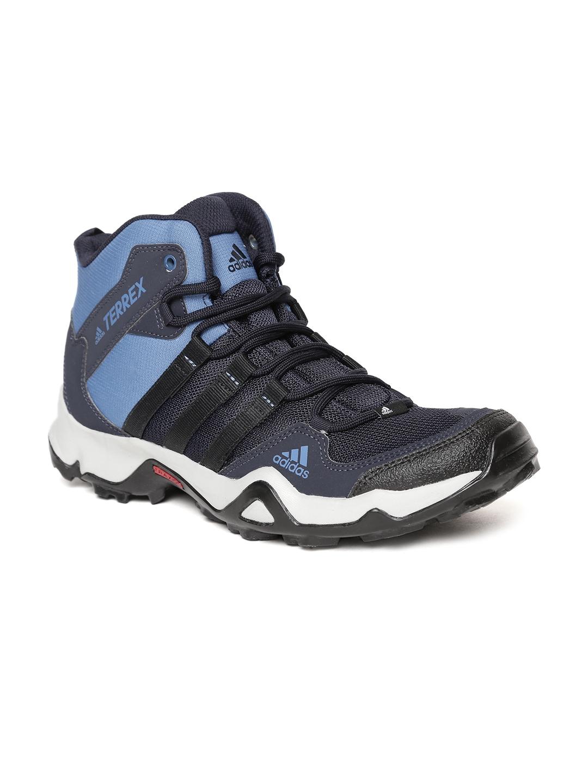 5dc490a3f07d Buy Adidas Men Blue   Black Path Cross Mid AX2 Trekking Shoes ...