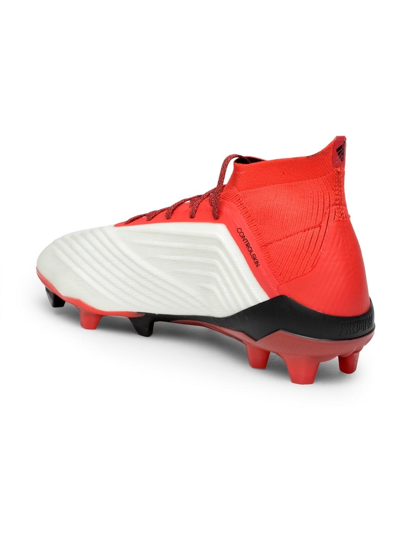 Buy ADIDAS Men White   Red PREDATOR 18.1 FG Football Shoes - Sports ... 3ce7344d9