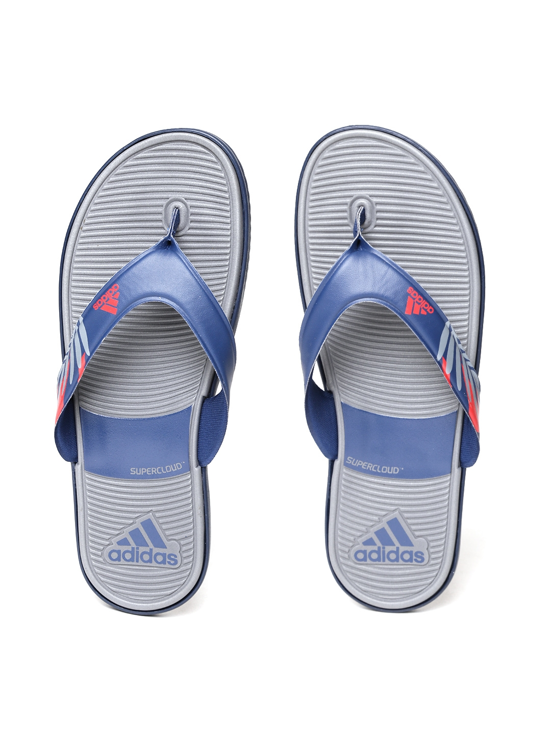 b3317e38053 Buy ADIDAS Men Navy   Grey SC Beach Printed Thong Flip Flops - Flip ...