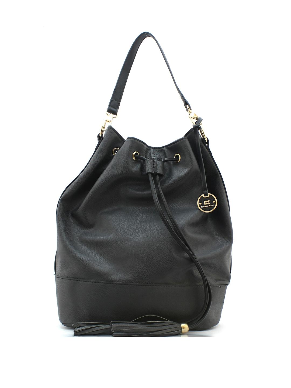 Diana Korr Black Solid Shoulder Bag