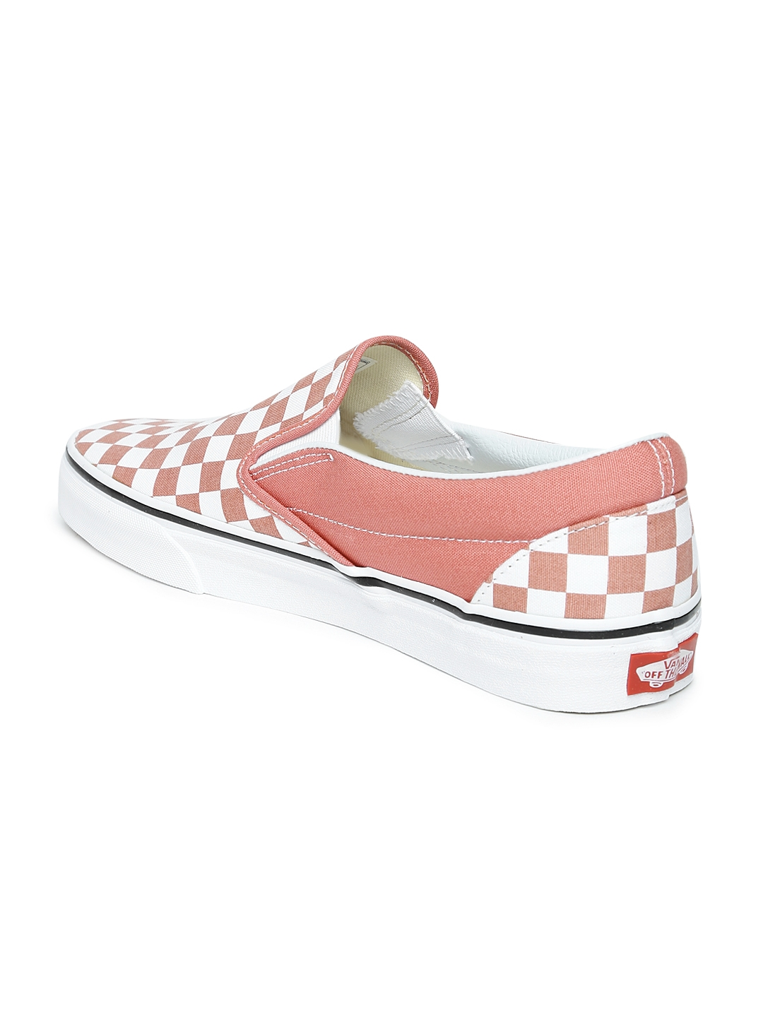 Buy Vans Unisex Pink   White Classic Checked Slip On Sneakers ... 92e4ddcfb