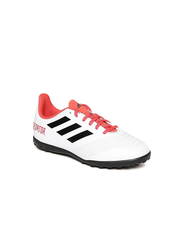 Buy Adidas Boys White Predator Tango 18.4 TF J Football Shoes ... 394c2a974906d
