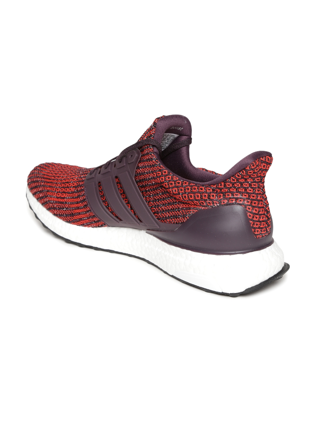 80e1e271ae289 Buy Adidas Men Red   Brown Ultraboost Woven Design Running Shoes ...