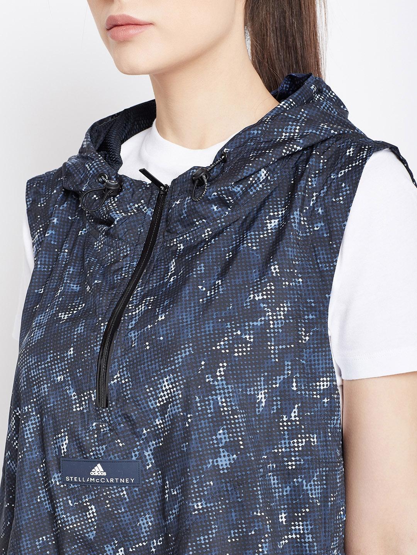 40ede18ce0948 Buy Stella McCartney By ADIDAS Navy AZ GILET Printed Running Jacket ...