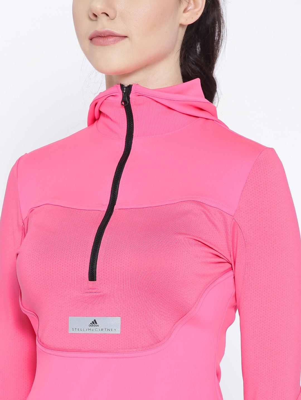 ec443aaf93c4 Buy Stella McCartney By ADIDAS Pink Solid Hooded Running T Shirt ...