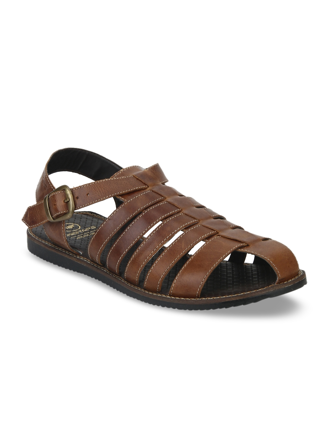 3c24eaa2fa58 Buy Red Tape Men Brown Leather Gladiators - Sandals for Men 2420130 ...