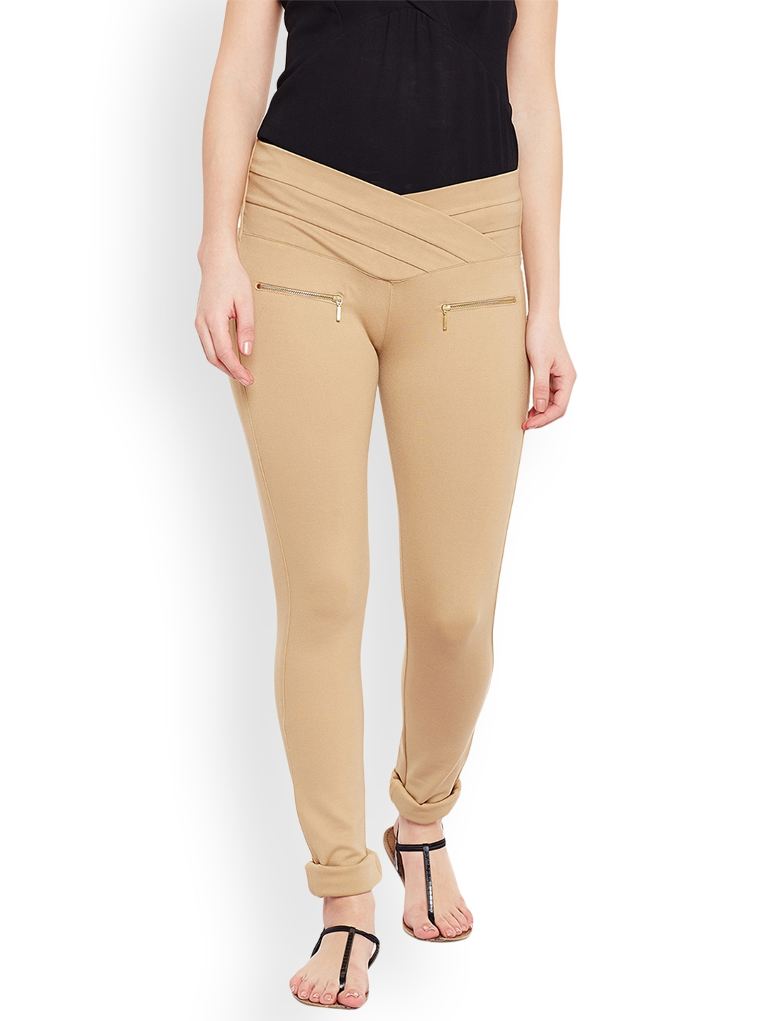 Devis Women Beige Jeggings