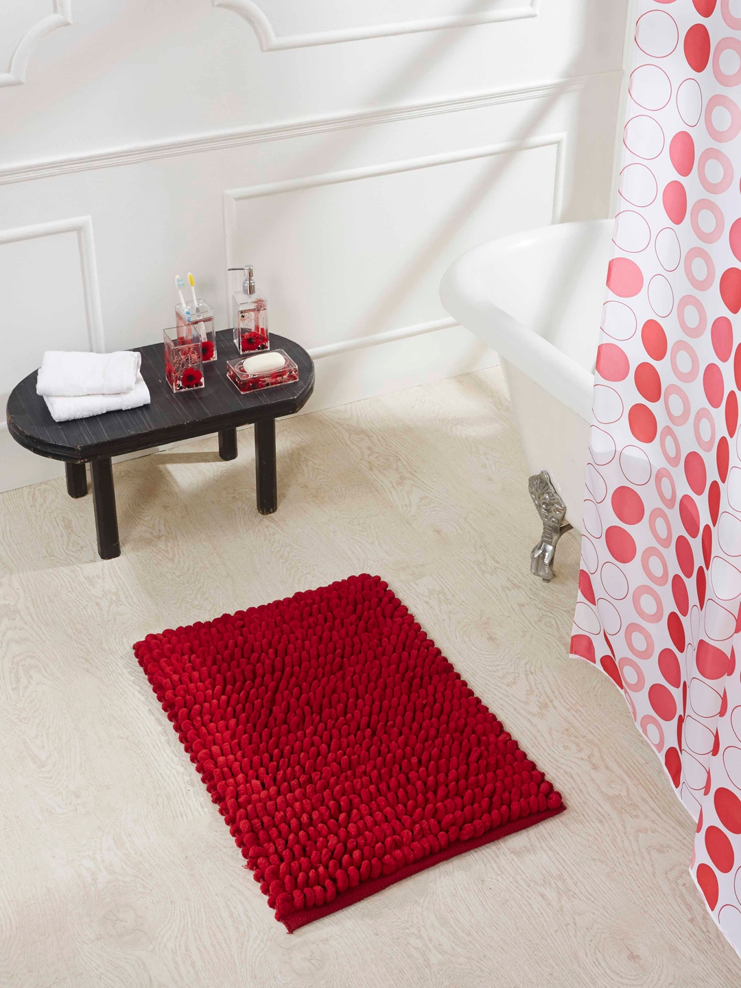 Buy Obsessions Universal 100 Cotton Bath Mat Red Bath