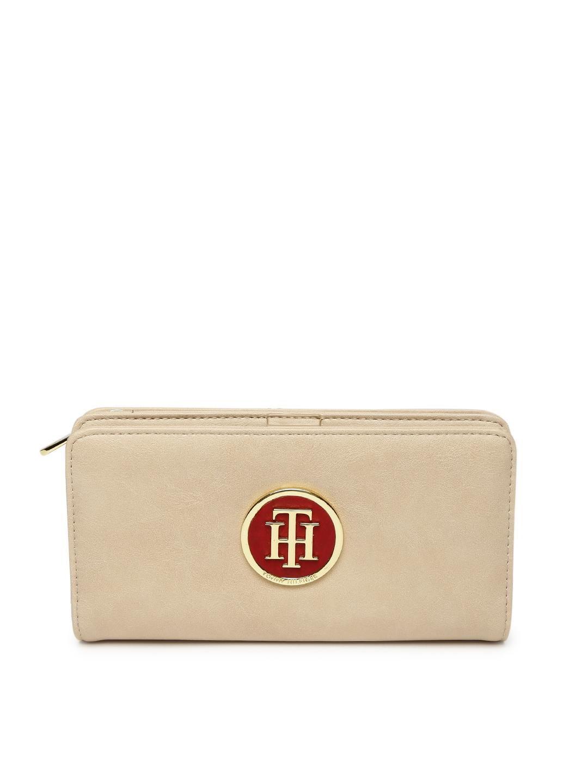e97733847b2 Buy Tommy Hilfiger Women Beige Solid Two Fold Wallet - Wallets for ...