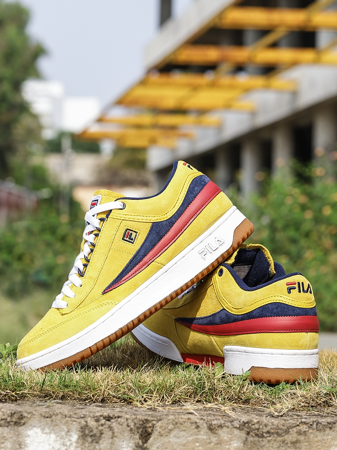 036eae705d53 Buy FILA Men Mustard Solid Suede Mid Top Sneakers - Casual Shoes for ...