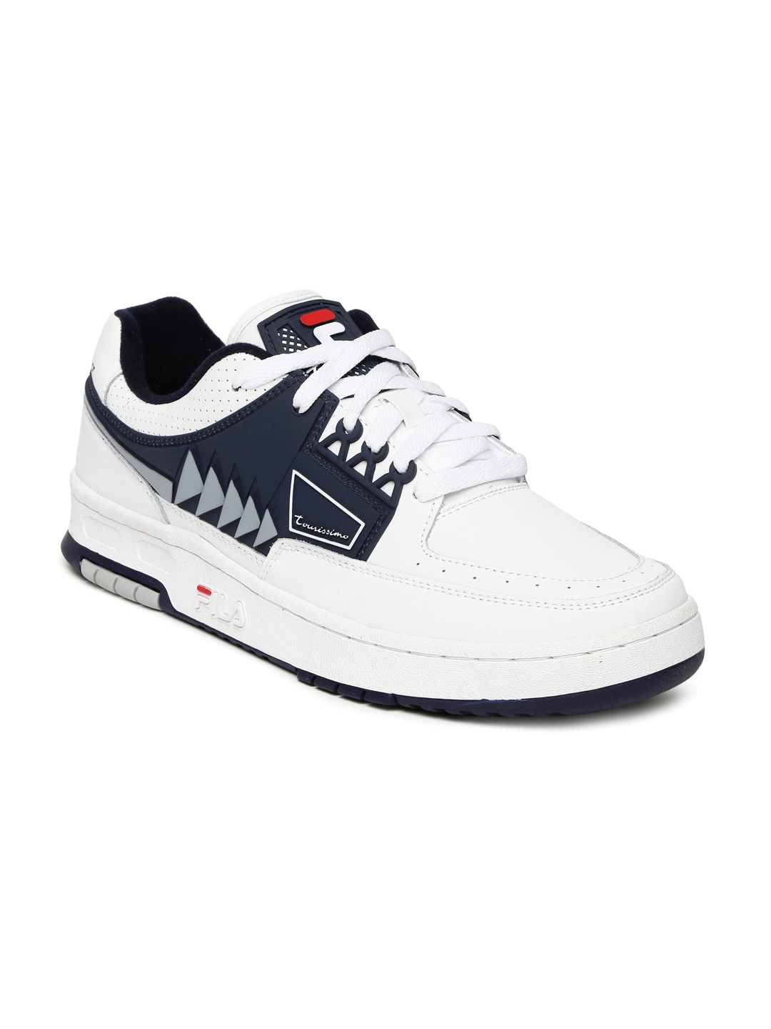 8d5f02e8815c Buy FILA Men White   Navy Tourissimo Low Leather Sneakers - Casual ...