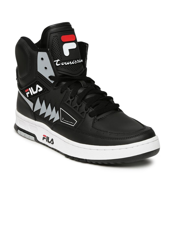3b157bc38e20 Buy FILA Men Black Tourissimo Sneakers - Casual Shoes for Men ...