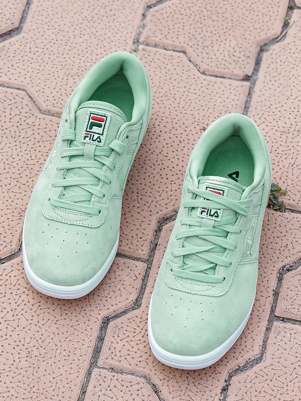 best service 8975b 5abbe FILA Women Green Original Fitness Premium Suede Sneakers