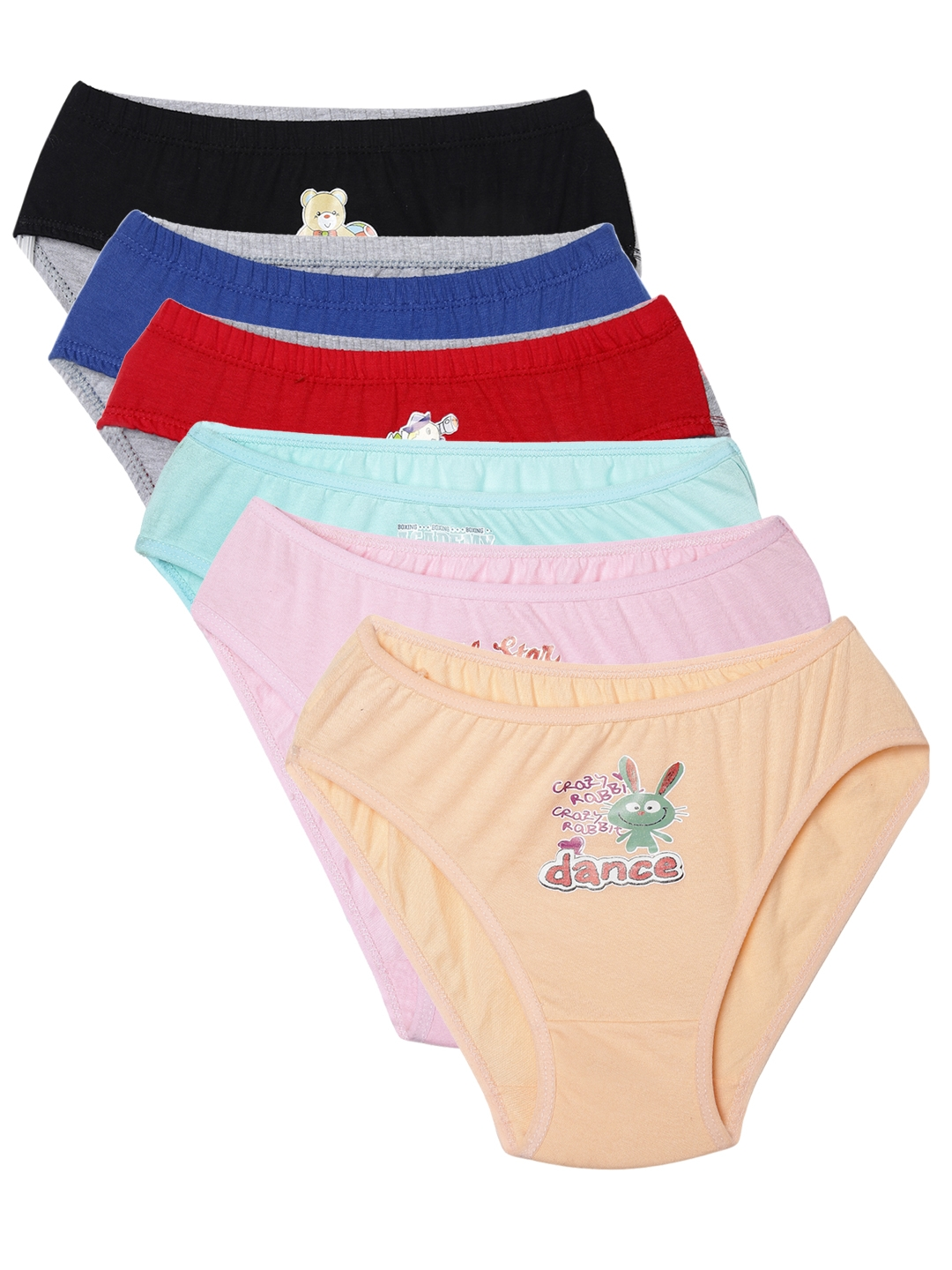 Leading Lady Girls Pack of 6 Briefs Polly Kashish 75 Leading Lady Briefs