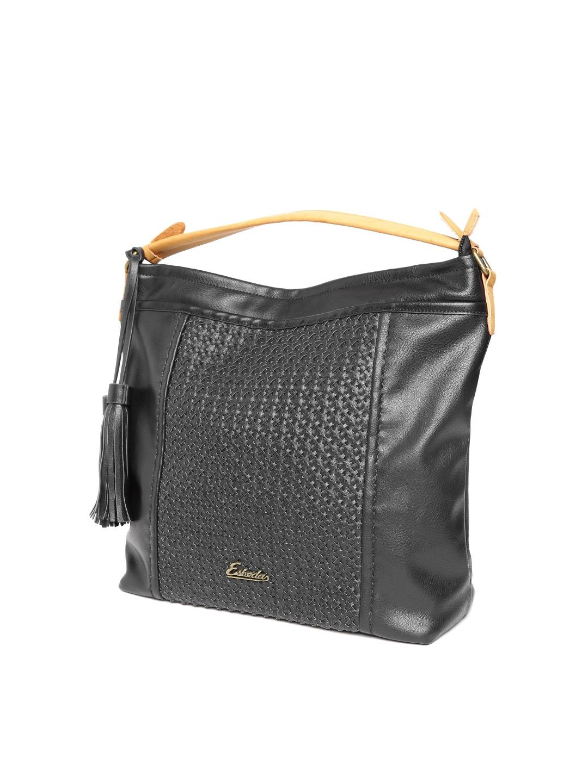 8f3e2f8016 Buy ESBEDA Black Oversized Textured Handheld Bag - Handbags for ...
