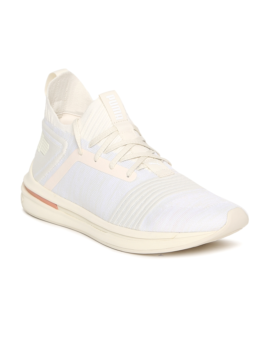 finest selection a6782 44227 Puma Men White IGNITE Limitless SR evoKNIT Sneakers
