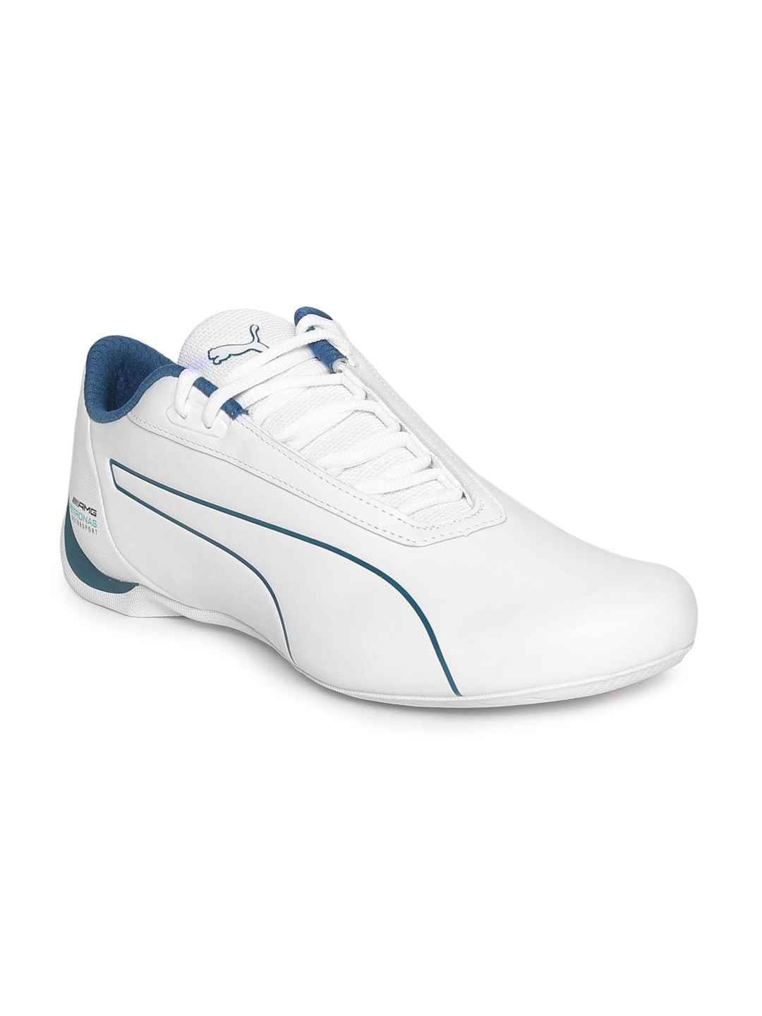 Buy Puma Men White Mercedes AMG Petronas Future Cat Sneakers ... d2d93766d