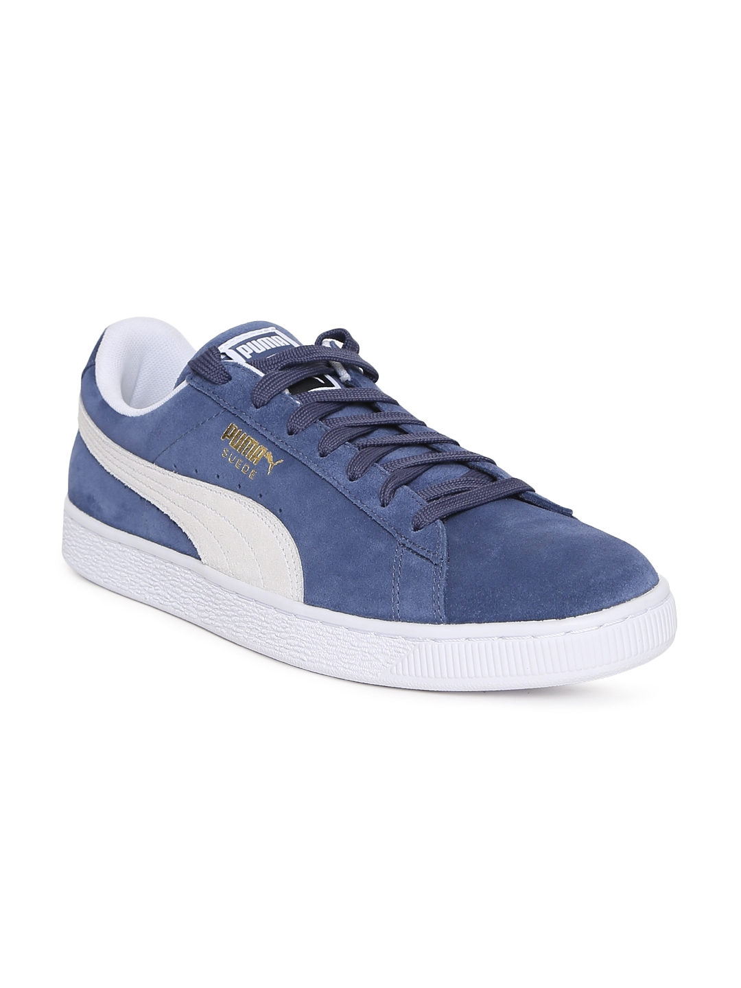 d2980548b Buy Puma Unisex Blue Solid Suede Classic Sneakers - Casual Shoes for ...