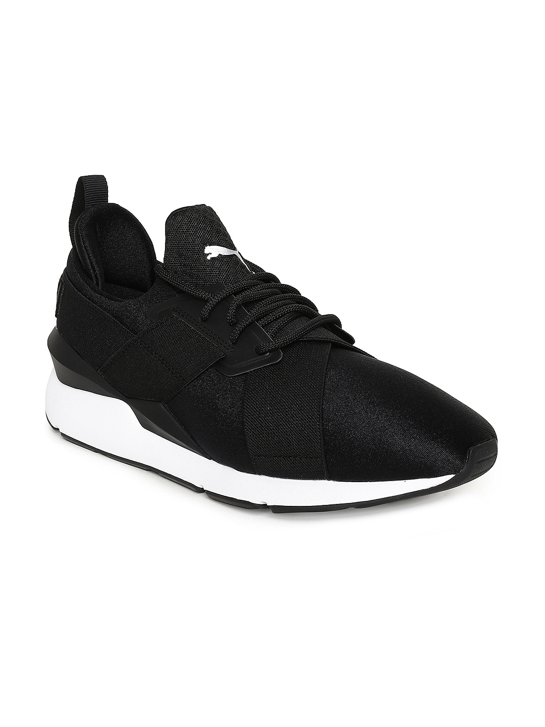 302e970cec12d2 Buy Puma Women Black Muse Satin EP Sneakers - Casual Shoes for Women ...