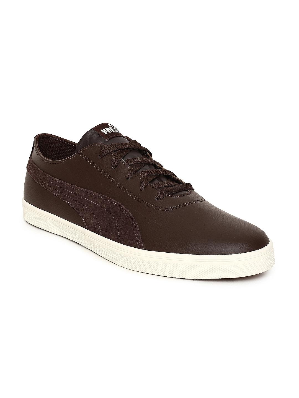 7feb0321c6bd Buy Puma Men Brown Urban SL SD Sneakers - Casual Shoes for Men ...