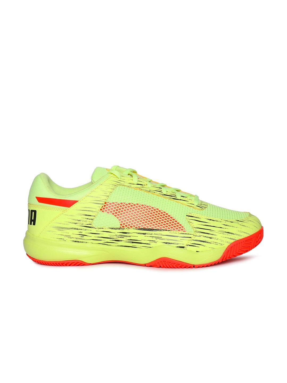 big sale 35e6b cf50d Puma Yellow evoSPEED Indoor Netfit EURO 5 Shoes