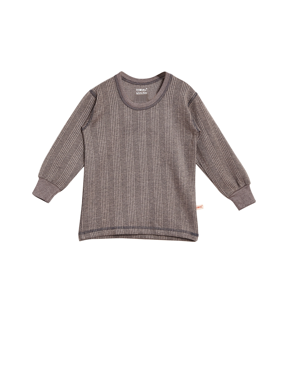VIMAL Girls Grey Thermal Top
